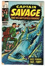 Captain Savage and His Battlefield Raiders #11 - Sgt. Fury, Very Good Condition!