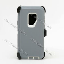 Samsung Galaxy S9 Fits Otterbox Defender Hard Case Holster Belt Clip Gray White
