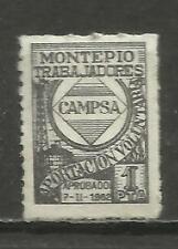 54 B- SELLO FISCAL BENEFICO MONTEPIO EMPLEADOS  TRABAJADORES DE CAMPSA PETROLEO