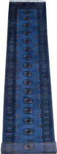 Classy 2.5 x 15 stair carpet runner Royal Blue Bokara 467 x 76 cm Greek Cross