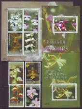 CARRIACOU  GRENADA 2008 ORCHIDS  SET 4+SHEETLET+2 M/SHEETS  MINT NEVERHINGED