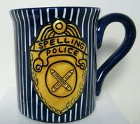 Our Name is Mudd 16 Oz. SPELLING POLICE Coffee Cup/Mug Boxed Gift Teachers