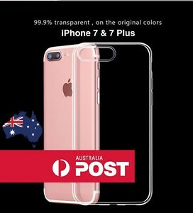 iPhone 7 / 7 Plus Gel Case - Apple Transparent Slim TPU Crystal Clear Soft Cover