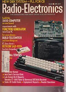 LOT OF 10 VINTAGE RADIO ELECTRONICS MAGAZINES 1977