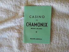 casino de chamonix  mont-blanc  black-jack/21 rules