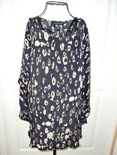 Made in USA~Women's~A PEA IN THE POD~Batwing Sleeves 100%Silk Top/Blouse size M~