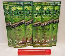 6 Pks Juicy Jays Natural Hemp Wraps 2 Per Pack & 1 Torpedo Tube (Like Doob Tube)