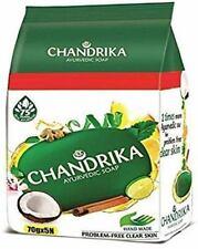 Chandrika Ayurveda Handmade Soap Super Saver Pack, 70g (Pack of 5)