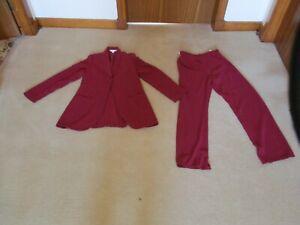 Vintage Next Red Trouser Suit Size 8