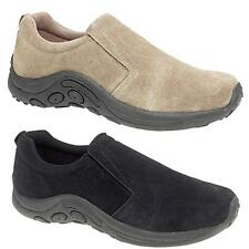 MENS WOMENS JUNGLE TRAINERS SLIP ON SUEDE LEATHER WALKING LADIES HIKING SHOES