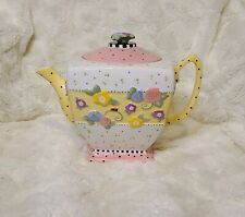 Mary Engelbreit 1999 Meadow Hostess Teapot 6 cup Retired Floral Me Ink w/lid