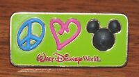 """Walt Disney """"Peace Love & Mickey Mouse"""" 2003 Official Collectible Trading Pin!"""
