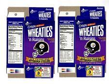 Pittsburgh Steelers Sample Size Wheaties 'n Raisins Flat Cereal Boxes