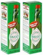 Tabasco Green Pepper Mild Flavor Hot Sauce 5 oz Bottle 2 Bottle Pack
