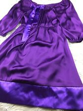 Wish Collection Anthropologie purple bow front dress Sz S Small stitch fix