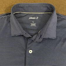 Mens JOHNNIE-O Twilight Blue Stripe Albatross Prep-Formance Polo Shirt Large