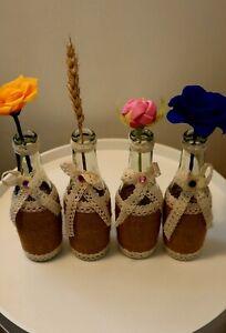 4 Decorative Bottle handcrafted as vase, etc.