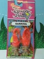 "Earrings - 1 1/4"" Ace Treasure Troll - New On Damaged Card - Rare"