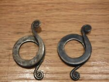 Ethnic Silver Slide Earrings from Cambodia Very old