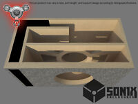 STAGE 2 - PORTED SUBWOOFER MDF ENCLOSURE FOR DC AUDIO XL12 M2 SUB BOX