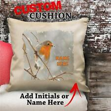 Personalised Robin Red Bird Spirit Cushion Cover Gift Birthday Him Her NC146