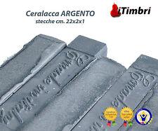 Ceralacca  Metalizzata 5 stecche  cm. 23x2x1 Extra fine colore ARGENTO