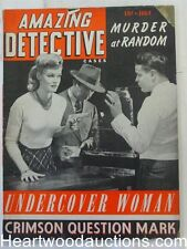 """""""Amazing Detective"""" May 1943 Bad Girl Cover"""