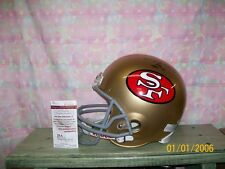 HUGH McELHENNY SIGNED T/B SAN FRANCISCO 49ERS HELMET HOF70