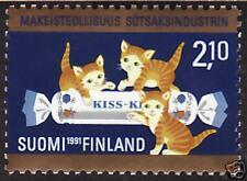 Gold Folio Cat Kitten Fazer Candy Stamp Finland MNH 1991