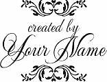 CUSTOM MADE PERSONALIZED CREATED BY RUBBER STAMPS C71
