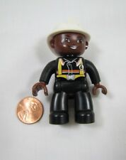 "LEGO DUPLO FIREFIGHTER FIRE CHIEF FIREMAN for FIRETRUCK 2.5"" African American"