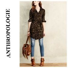 NEW Anthropologie 11-1 Tylho Womens Camo Tunic Button Blouse Top Belt XS 2 $98