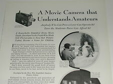 1930 Kodak Movie camera ad, Cine-Kodak