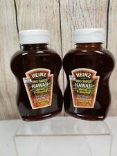 Heinz Sweet & Smoky Hawaii Style Barbeque Sauce 2- 11oz Bottles Rare