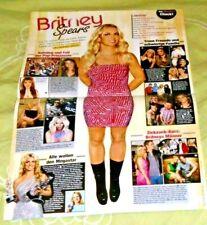 German Magazine Yeah! Centerfold Poster Britney Spears