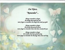 NIECE NEPHEW Poem Personalized Name Prayer Print