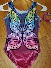 Destira Girl's Gymnastics Leotard size Jr 12-14 Sugar Plum Fairy Velour