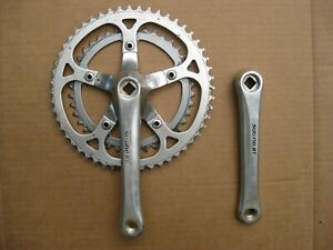 Vintage Sugino GT Double 170mm Crankset.with 42 / 52 Chainrings