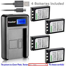 Kastar Battery LCD Charger for Olympus Li-10B & Stylus 410 Stylus 410 Digital