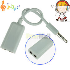 3.5mm 1 Male to 2 Female Earphone Headphone Audio Extension Y Splitter Cable #1
