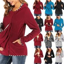 Maternity Ladies Hoodies Jumper Kangaroo Sweatshirt Jacket Carriers Holder Coats