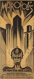 Metropolis 1927 Fritz Lang Vintage 3 Sheet Movie Poster Fine Art Lithograph S2