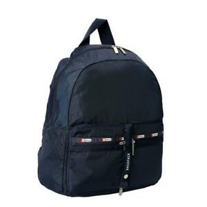 LeSportsac Solid Collection Travel Packable Backpack in Heritage Cobalt NWT