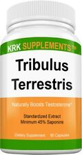 Tribulus Terrestris 1000mg per serving Minimum 45% Saponins Extract 90 Capsules