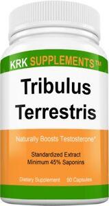 Tribulus Terrestris 1000mg per serving Minimum 45% Saponins Extract 90 Capsules