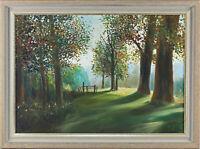 8460005 Ölgemälde signiert Jochen Bach Plinz 1995 Landschaft Thüringen Wald
