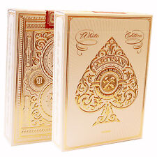 White Artisan Playing Cards by Theory 11 - Quality USA Made Card Deck