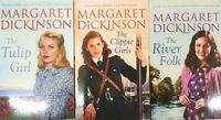 Margaret Dickinson Romance Saga Collection 3 Books Set, The River Folk,The Tulip