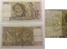 100 Francs Delacroix 1990 filigrane décalé