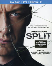 Split Blu-ray DVD & Digital HD Combo Pack Horror James McAvoy M Night Shyamalan
